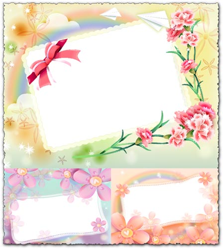photoshop spring theme frame photo